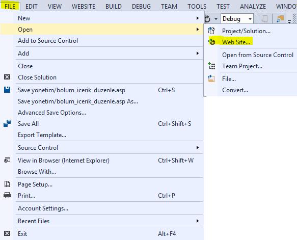 Debug Classic ASP Project In Visual Studio - Codesenior COM